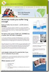 Go to the Derma Cleanse website